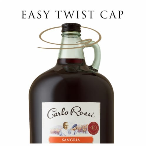 Carlo Rossi Sangria Sweet Red Wine Perspective: top