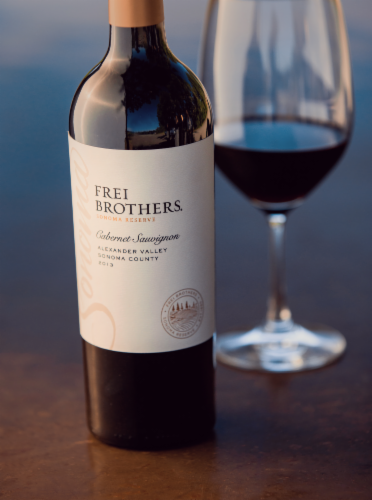 Frei Brothers Reserve Sonoma Cabernet Sauvignon Red Wine Perspective: top