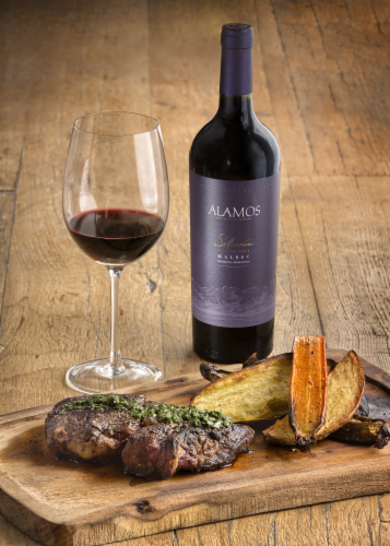 Alamos Seleccion Malbec Argentina Red Wine 750ml Perspective: top
