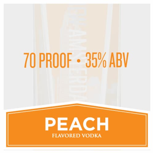 New Amsterdam Peach Flavored Vodka Perspective: top