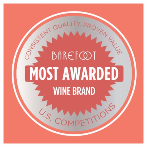 Barefoot Pink Moscato Blush Wine Perspective: top