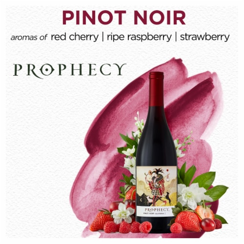 Prophecy Pinot Noir Red Wine Perspective: top