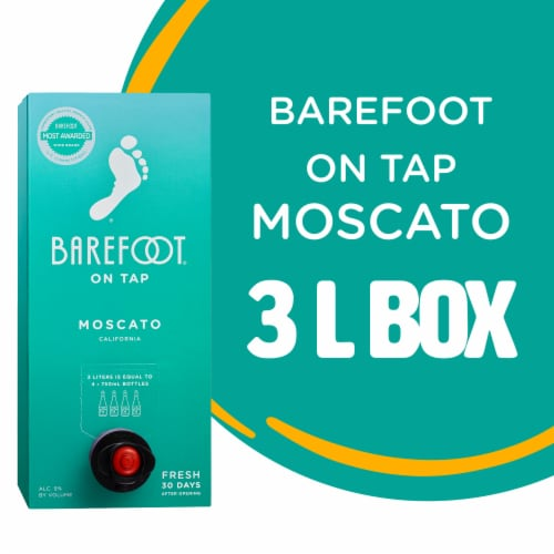 Barefoot On Tap Moscato White Wine Box Perspective: top