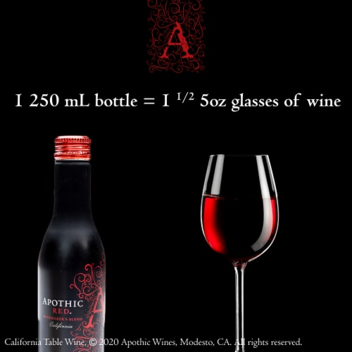 Apothic Red Blend Red Wine 2 pack of 250ml Aluminum Bottles Perspective: top