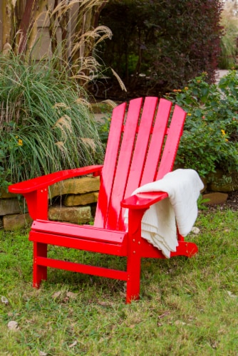 Leigh Country Classic Adirondack Chair - Red Perspective: top
