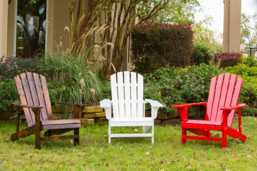 Leigh Country Adirondack Chair - Natural Stain Perspective: top