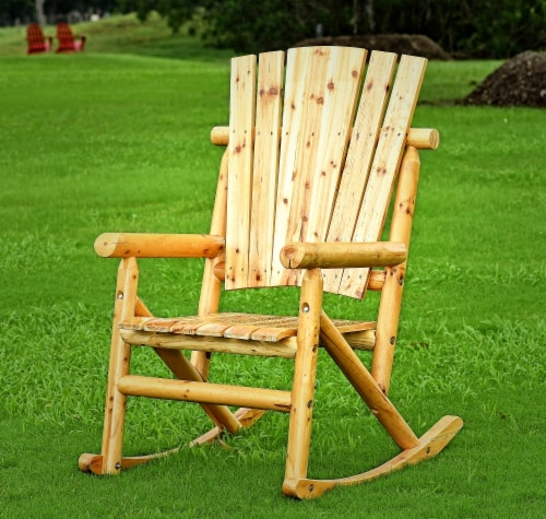 Leigh Country Aspen Single Rocker - Natural Finish Perspective: top