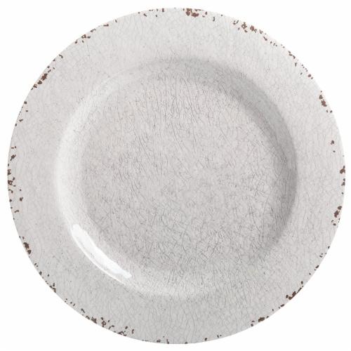 Gibson Studio California Mauna 12-Piece Durable Melamine Dinnerware Set, Ice Perspective: top
