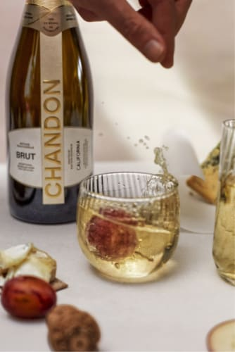 Chandon California Brut Sparkling Wine Perspective: top