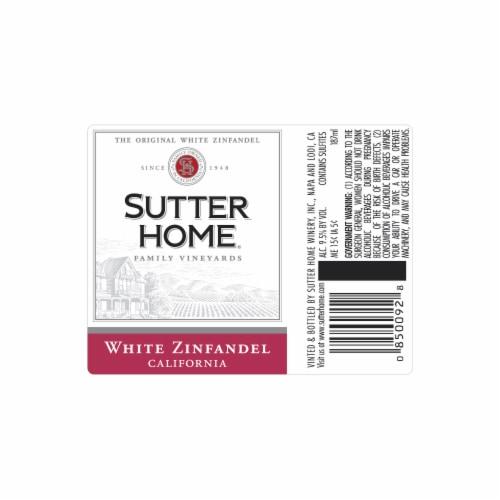 Sutter Home White Zinfandel Wine Perspective: top