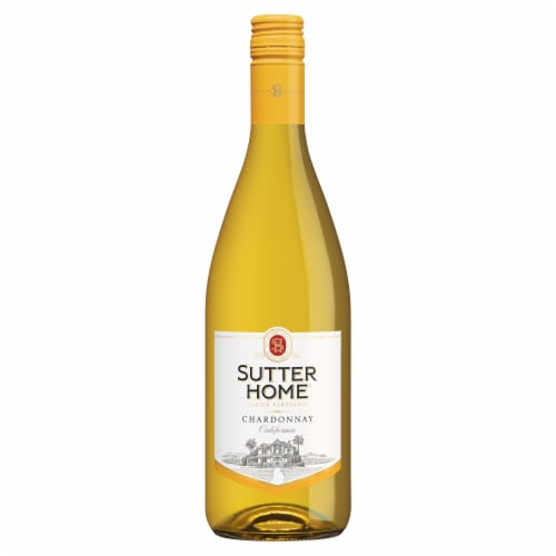 Sutter Home® Chardonnay White Wine 750mL Wine Bottle Perspective: top