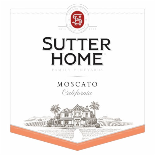 Sutter Home Moscato White Wine 1.5L Wine Bottle Perspective: top