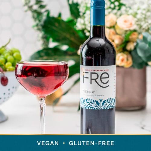 FRE Merlot 750ml Wine Bottle Perspective: top