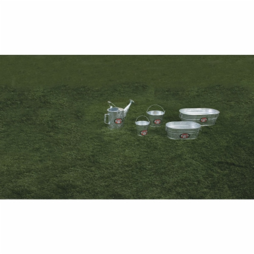 Behrens 2 gal. Steel Tub Oval - Case Of: 1; Perspective: top