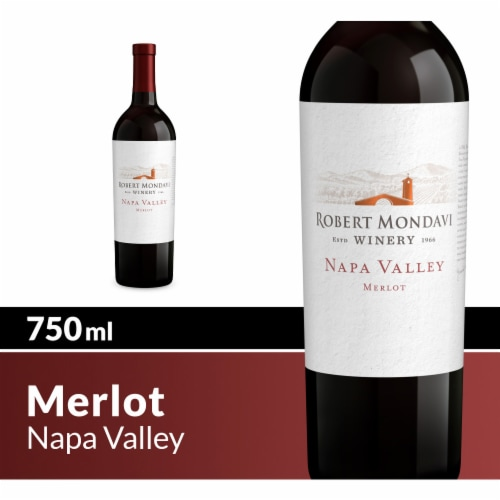 Robert Mondavi Winery Merlot Red Wine Perspective: top