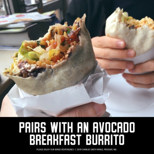 Band of Roses by Charles Smith Rose Blush Wine Perspective: top