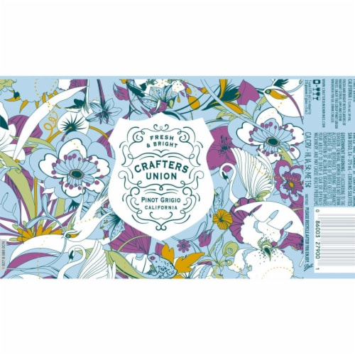 Crafters Union Pinot Grigio Canned White Wine Perspective: top