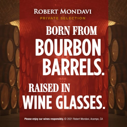 Robert Mondavi Private Selection Bourbon Barrel Aged Cabernet Sauvignon Red Wine Perspective: top