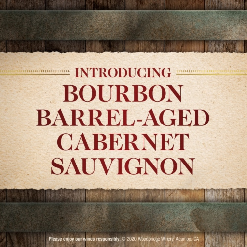 Woodbridge by Robert Mondavi Bourbon Barrel Aged Cabernet Sauvignon Red Wine Perspective: top