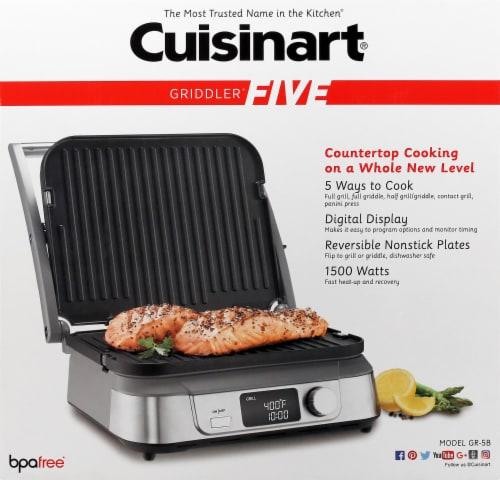 Cuisinart Griddler FIVE - Silver/Black Perspective: top
