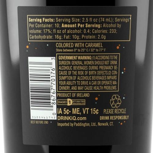 Baileys Salted Caramel Irish Cream Liqueur Perspective: top