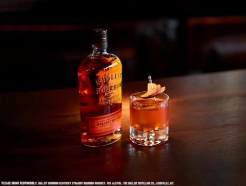 Bulleit Bourbon Kentucky Straight Bourbon Whiskey Perspective: top