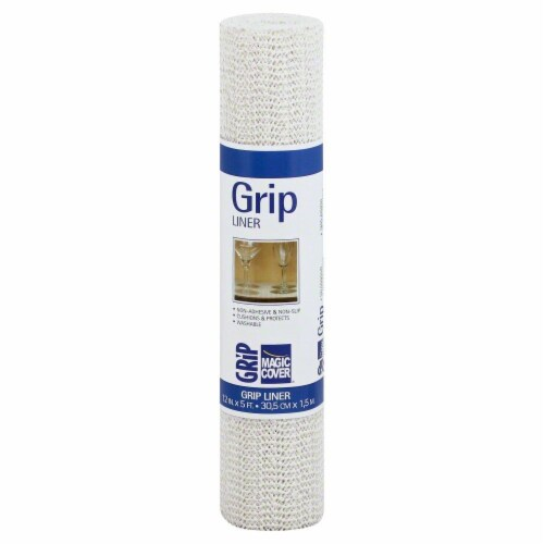 Magic Cover Grip Thick Shelf Liner - White Perspective: top