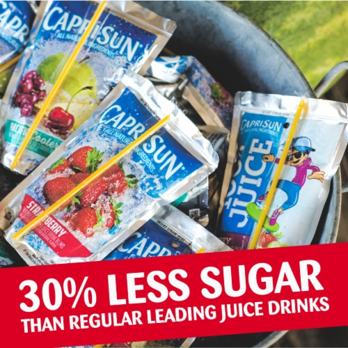 Capri Sun Fruit Punch Flavored Juice Drink Blend Pouches Perspective: top