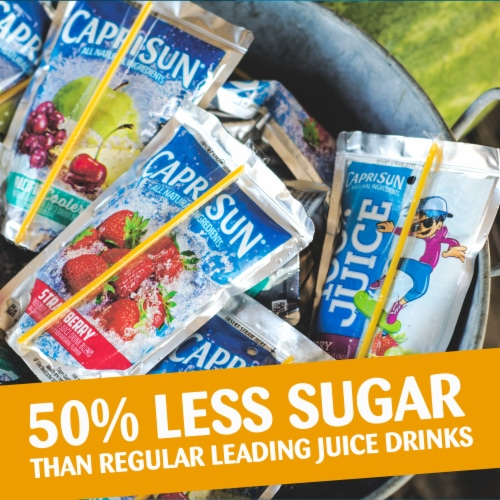 Capri Sun Roarin' Waters Tropical Tide Flavored Water Beverage Pouches Perspective: top