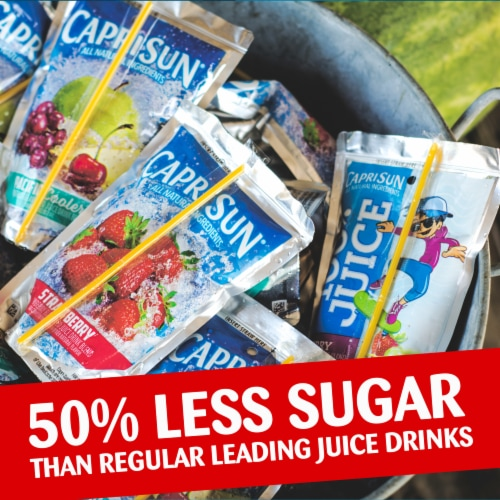 Capri® Sun Roarin' Waters Fruit Punch Wave Flavored Water Beverage Pouches Perspective: top