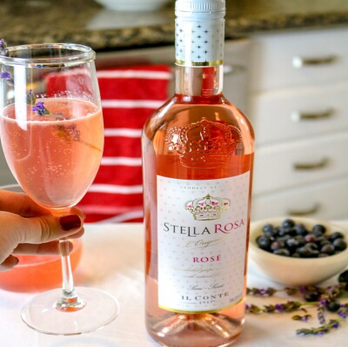 Stella Rosa Rose Wine Perspective: top