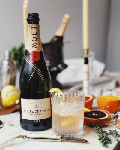 Moet & Chandon Imperial Brut Champagne Perspective: top