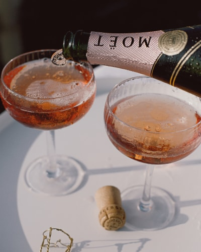 Moet & Chandon Rose Imperial Champagne Perspective: top