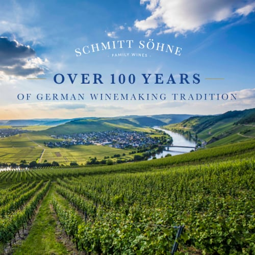 Schmitt Sohne Dry Riesling White Wine Perspective: top