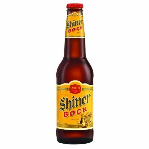 Shiner Bock Lager Beer Perspective: top