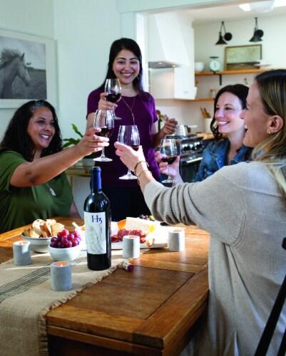 H3 Merlot Red Wine Perspective: top