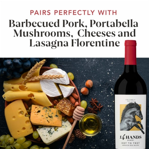 14 Hands Hot To Trot Red Blend Wine Perspective: top