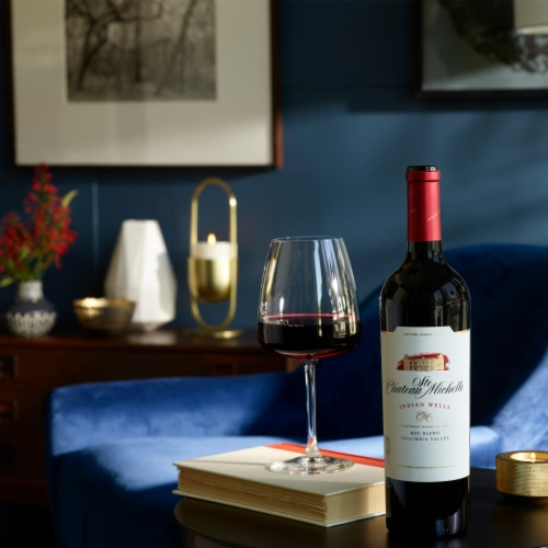 Chateau Ste Michelle Indian Wells Red Blend Wine Perspective: top