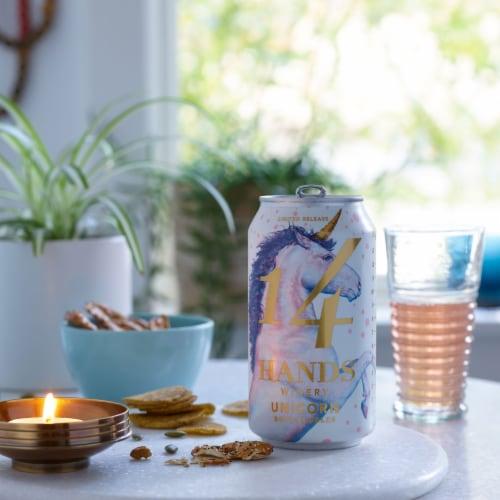 14 Hands Unicorn Rose Bubbles Sparkling Wine Perspective: top