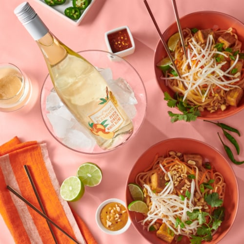 Chateau Ste Michelle Elements Peach Ginger White Blend White Wine Perspective: top