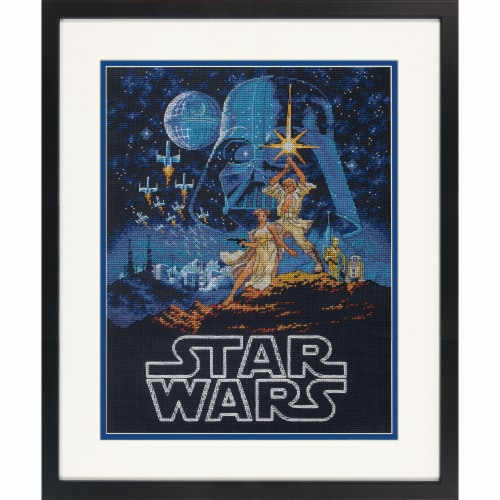 Dimensions® Star Wars Luke and Princess Leia Counted Cross Stitch Kit Perspective: top