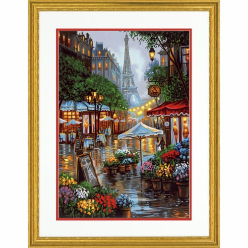 Dimensions® Paintworks™ Springtime in Paris Paint by Number Kit Perspective: top