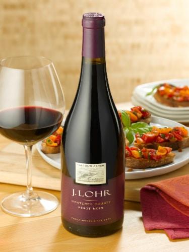 J. Lohr Estates Falcon's Perch Pinot Noir Red Wine Perspective: top