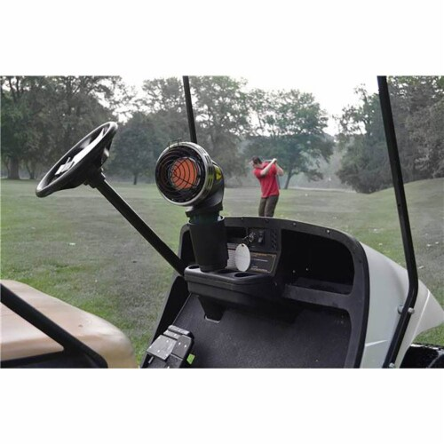 Mr. Heater MH4GC 4000 BTU Radiant Propane Portable Golf Cart Cup Holder Heater Perspective: top