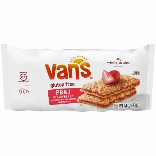 Van's Gluten Free PB&J Strawberry Sandwich Bars 5 Count Perspective: top