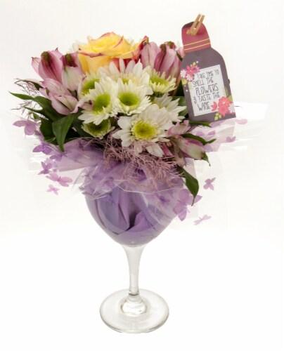 World Class Cheers to Mom Floral Vase Arrangement Perspective: top