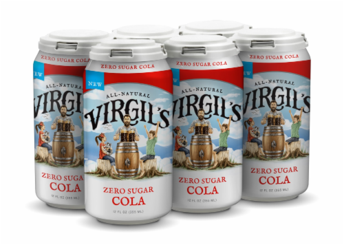 Virgil's Zero Sugar Cola Perspective: top
