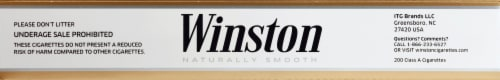 Winston Gold Box King Carton Perspective: top