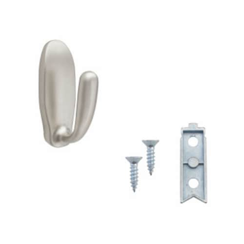 Rev-A-Shelf Sidelines CSSL-HK-SN-5 Decorative Wall Hook, Satin Nickel (5 Pack) Perspective: top