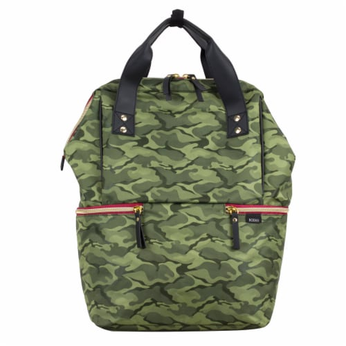 Bodhi Double Handle Tote Backpack - Green Camo Perspective: top